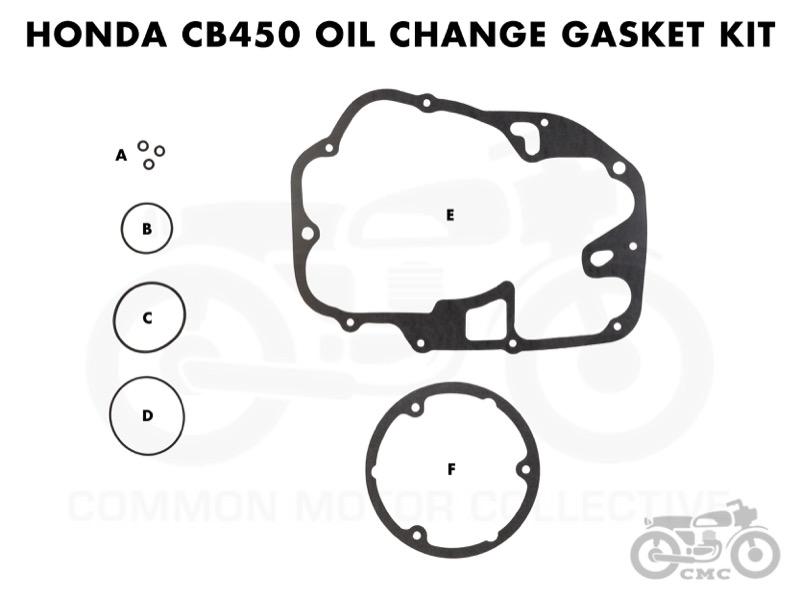 Honda Cl Cb450 Cb500t Oil Change Gasket Kit Mon Motor