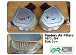 Honda CB360 Air Filter - Factory Style Right