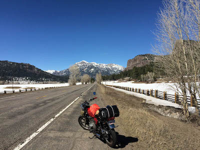1978 Yamaha XS400 in the Colorado Rockies