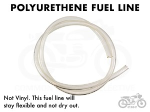 Clear Polyurethene Fuel Line - 3 ft