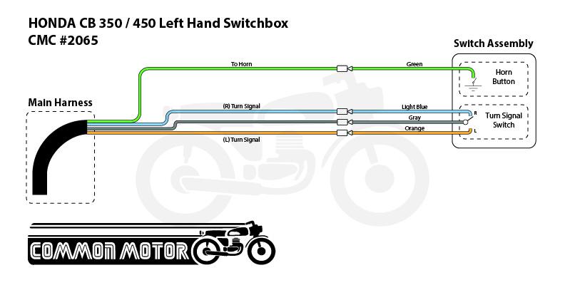 Klaxon//Handlebar commutateur left HONDA CB 450 S-pc17 clignotant Guidon Robinet à gauche