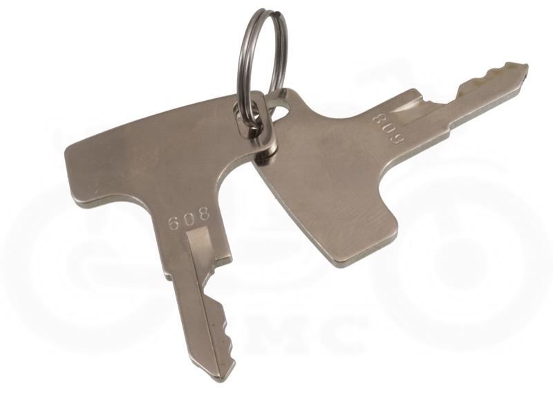 Honda CB350 / CB450 Ignition Key Switch: Round Plug