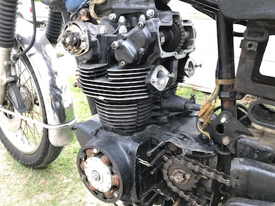 Honda CB450 Engine Left Side