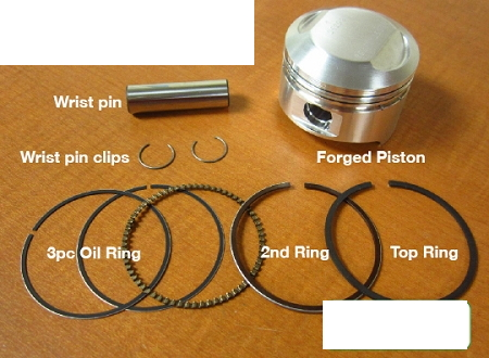Piston Rings Seals Engine Rebuild Kit Gasket Set Compatible with Honda CB360 CL360