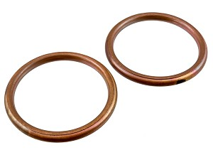 Honda CB350 / CB360 Exhaust Pipe Gaskets: Copper