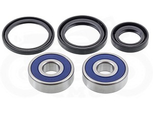 Honda CB360 / CB450 / CB500 / CB550 Front Wheel Bearing & Seal Kit (Disc Brake Models)