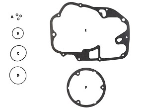 Honda CL / CB450 / CB500T Gasket Kit: Oil Change