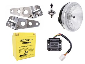 Headlight & Charging System Bundle - Honda CB350 / CB360 / CB450